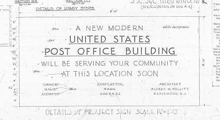 Maplewood Post Office Construction Sign
